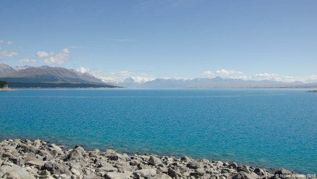 Lake Pukaki - brilliant blue