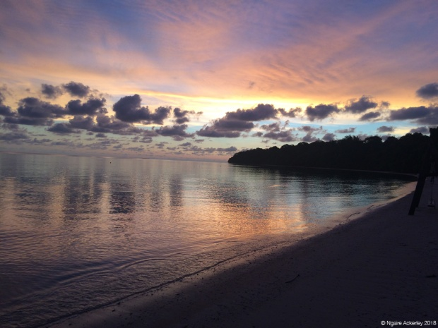 Sunset reflections, Pulau Tiga, Borneo