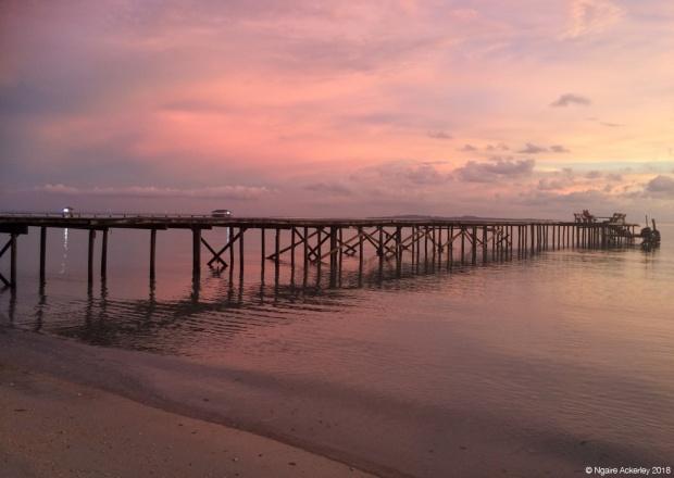 Pinky sunset, Pulau Tiga, Borneo