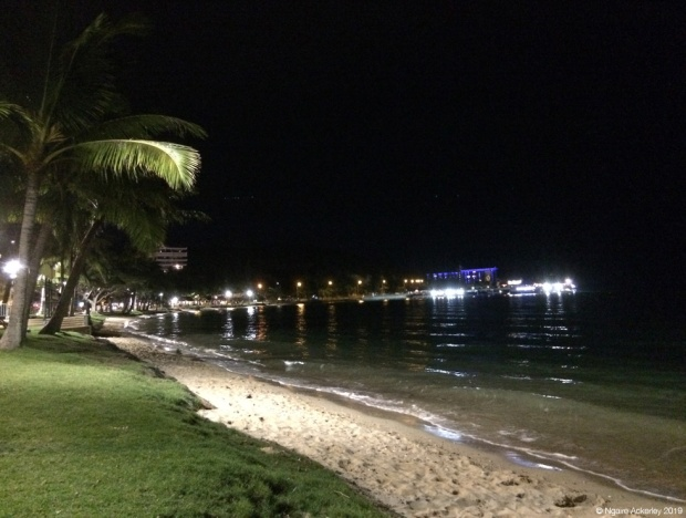 night time Anse Vata Bay, Noumea
