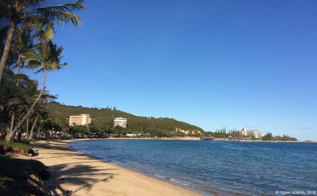sunny beach Anse Vata Bay, Noumea